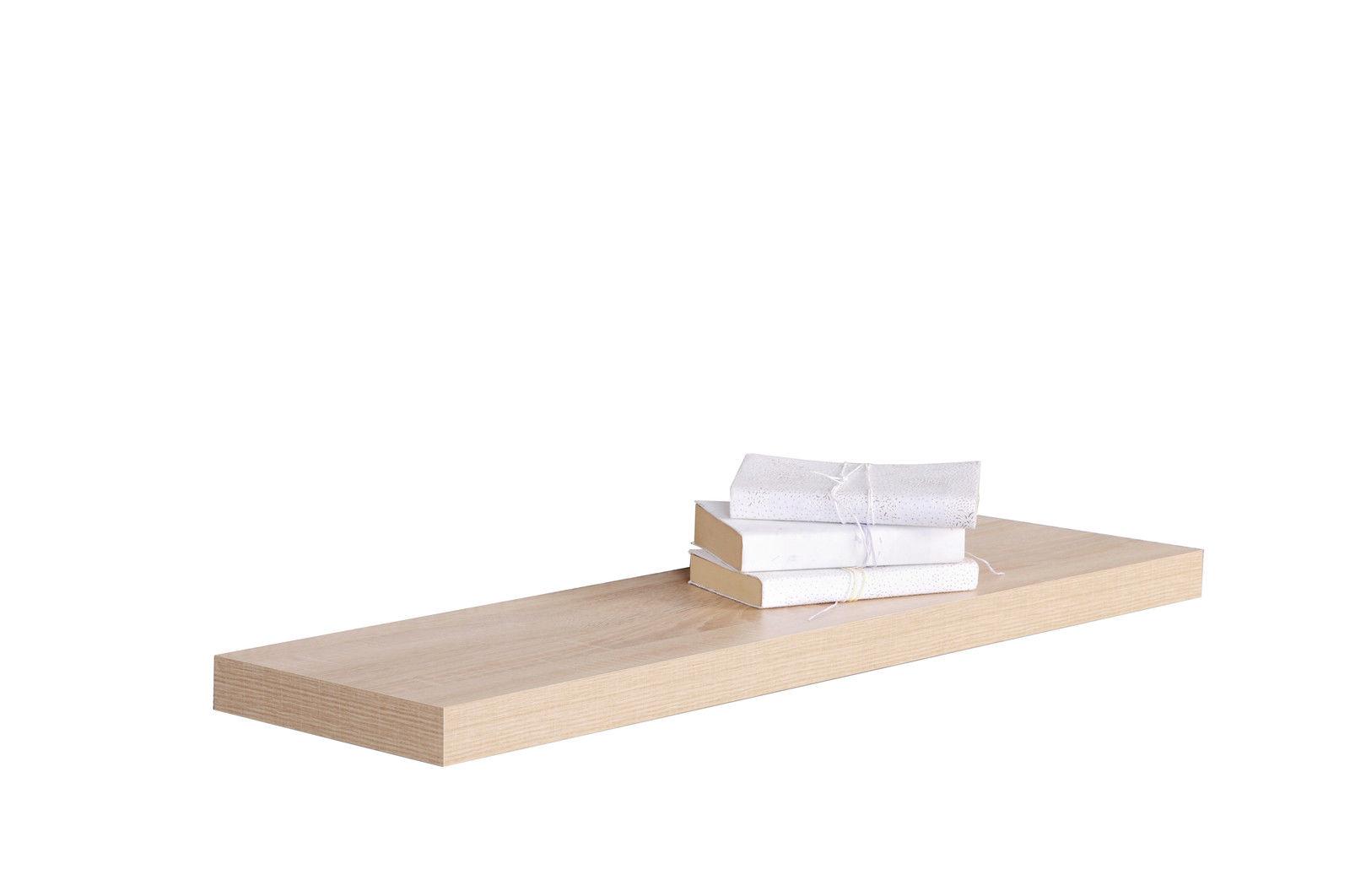 2er set wandboard h ngeregal in sonoma eiche aibv trade gmbh. Black Bedroom Furniture Sets. Home Design Ideas