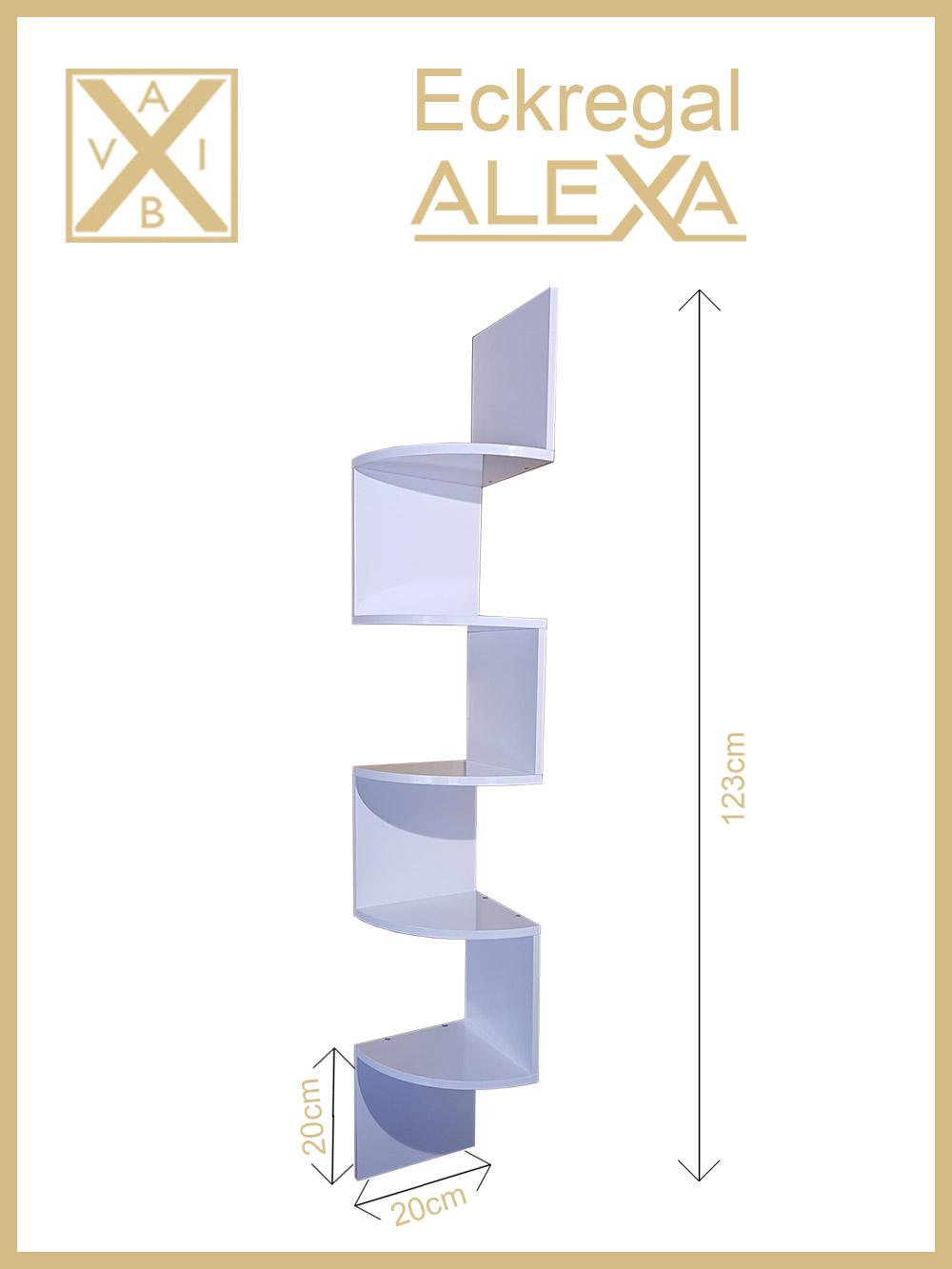 eckregal alexa hochglanz in versch farben aibv trade gmbh. Black Bedroom Furniture Sets. Home Design Ideas